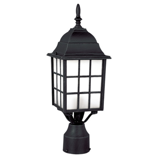 "Trans Globe Lighting 4421 SWI 18.5"" Outdoor Swedish Iron Mission/Craftsman Postmount Lantern(Shown in Black Finish)"