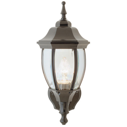 """Trans Globe Lighting 4470 WH 15.75"""" Outdoor White Traditional Wall Lantern(Shown in Black Finish)"""