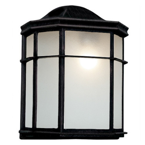 "Trans Globe Lighting 4484 BC 9.75"" Outdoor Black Copper Traditional Pocket Lantern (Shown in Black Finish)"
