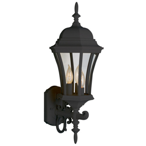 "Trans Globe Lighting 4503 BG 23.5"" Outdoor Black Gold Colonial  Wall Lantern(Shown in BK)"