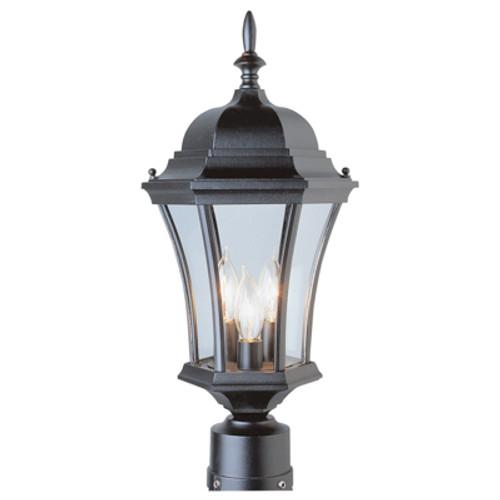 """Trans Globe Lighting 4504 BG 21.25"""" Outdoor Black Gold Traditional Postmount Lantern(Shown in BK)"""