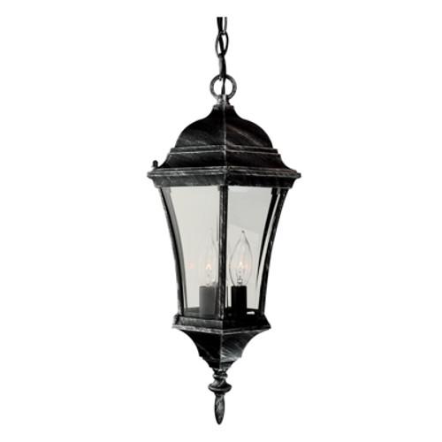 """Trans Globe Lighting 4505 BK 19.5"""" Outdoor Black Traditional Hanging Lantern(Shown in SWI)"""