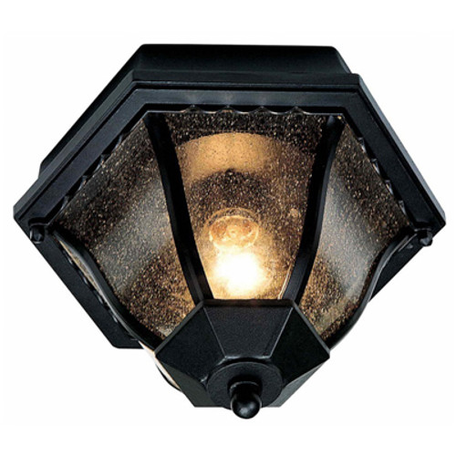 "Trans Globe Lighting 4558 BG 8.75"" Outdoor Black Gold Traditional Flushmount Lantern(Shown in BK)"