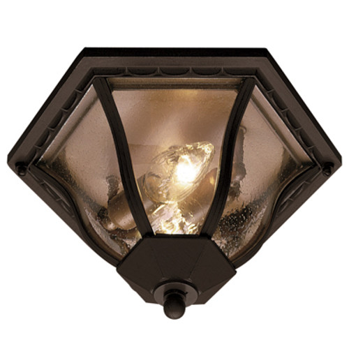 "Trans Globe Lighting 4559 RT 8.5"" Outdoor Rust Traditional Flushmount Lantern(Shown in BK Finish)"