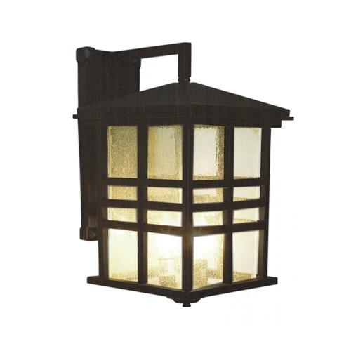 "Trans Globe Lighting 4637 WB 16"" Outdoor Weathered Bronze Mission/Craftsman Wall Lantern"