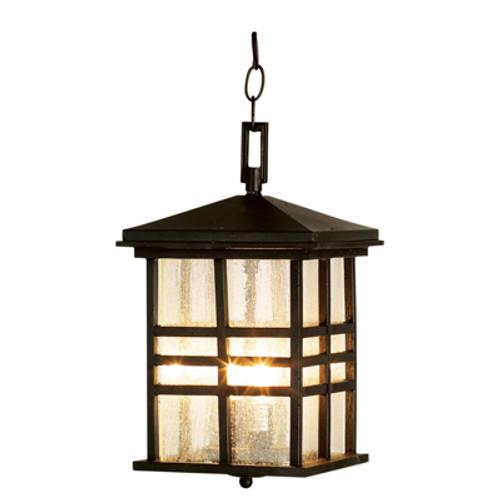 "Trans Globe Lighting 4638 WB 15.5"" Outdoor Weathered Bronze Mission/Craftsman Hanging Lantern(Shown in BK Finish)"