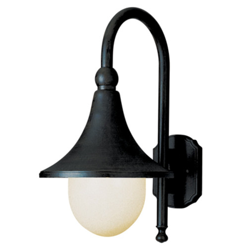 "Trans Globe Lighting 4775 BG 18"" Outdoor Black Gold Transitional  Wall Lantern(Shown in BK Finish)"