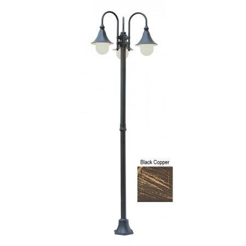 "Trans Globe Lighting 4776 BC 86"" Outdoor Black Copper Transitional  Pole Light"