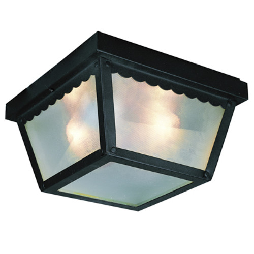 "Trans Globe Lighting 4901 BN 5"" Outdoor Brushed Nickel Traditional Flushmount Lantern(Shown in BK Finish)"
