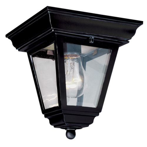 "Trans Globe Lighting 4903 BG 7.25"" Outdoor Black Gold Traditional Flushmount Lantern(Shown in BK Finish)"
