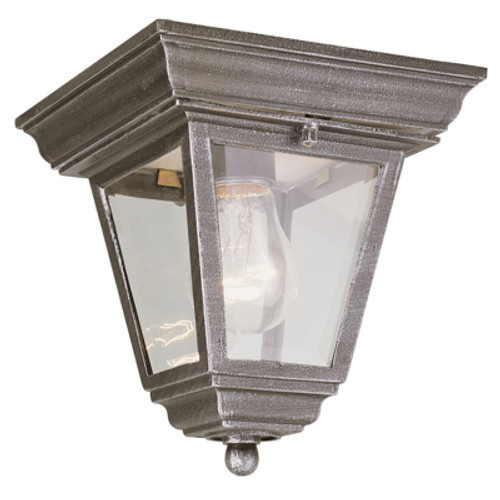 "Trans Globe Lighting 4903 WH 7.25"" Outdoor White Traditional Flushmount Lantern(Shown in Rust Finish)"