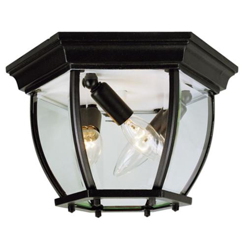 "Trans Globe Lighting 4906 BG 6.5"" Outdoor Black Gold Traditional Flushmount Lantern(Shown in BK Finish)"