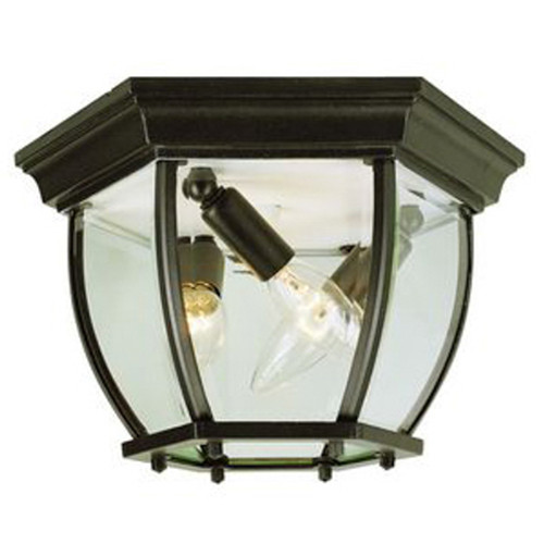 "Trans Globe Lighting 4907 BG 6.5"" Outdoor Black Gold Traditional Flushmount Lantern(Shown in BK Finish)"
