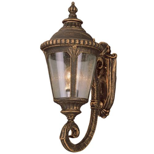 "Trans Globe Lighting 5040 SWI 19"" Outdoor Swedish Iron Tuscan Wall Lantern(Shown in BC Finish)"