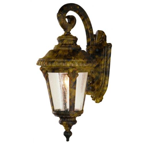"Trans Globe Lighting 5044 BG 25"" Outdoor Black Gold Tuscan Wall Lantern"