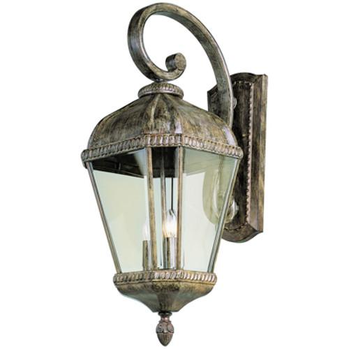 "Trans Globe Lighting 5150 BK 22.5"" Outdoor Black Tuscan Wall Lantern(Shown in BRT Finish)"