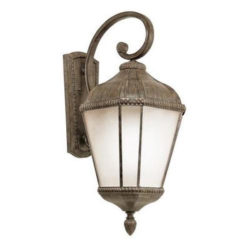 "Trans Globe Lighting 5152 BK 32"" Outdoor Black Tuscan Wall Lantern(Shown in BRT Finish)"
