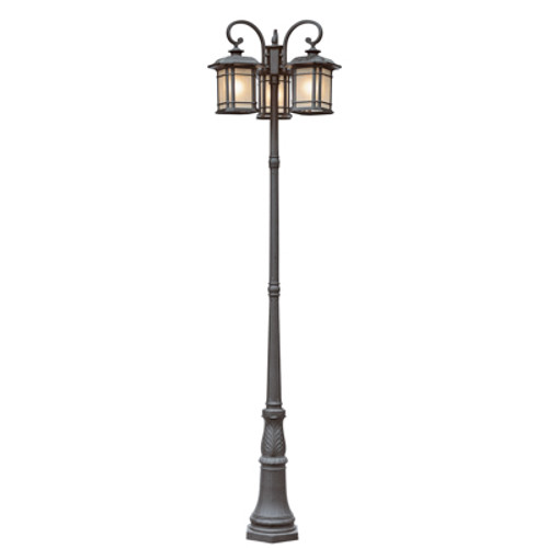 "Trans Globe Lighting 5827 RT 99.5"" Outdoor Rust Mission/Craftsman Pole Light(Shown in Black Finish)"