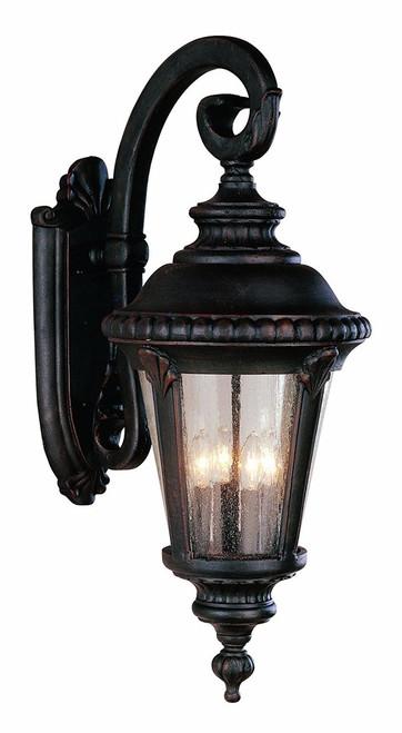 "Trans Globe Lighting 5045 BG 29"" Outdoor Black Gold Tuscan Wall Lantern"