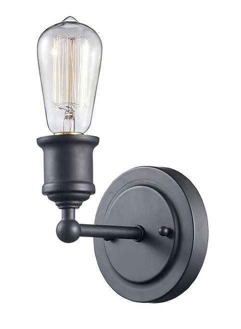 """Trans Globe Lighting 70841 ROB 5"""" Indoor Rubbed Oil Bronze Industrial Wall Sconce"""