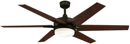 Westinghouse 7207800 Transitional Cayuga 60 inch Brushed Oil Rubbed Bronze Indoor Ceiling Fan, Dimmable Led Light Kit with Opal Frosted Glass