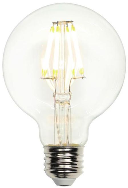Westinghouse 4317300 6.5 Watt (60 Watt Equivalent) G25 Dimmable Filament LED Light Bulb 2700K Clear E26 (Medium) Base, 120 Volt