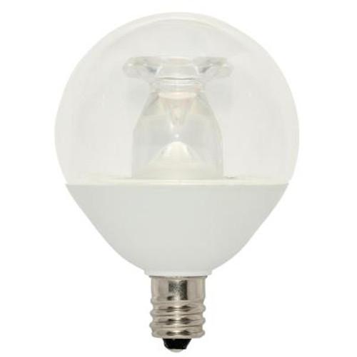 Westinghouse 5321300 7 Watt (60 Watt Equivalent) G16-1/2 Dimmable LED Light Bulb 2700K Soft White Light E12 (Candelabra) Base, 120 Volt
