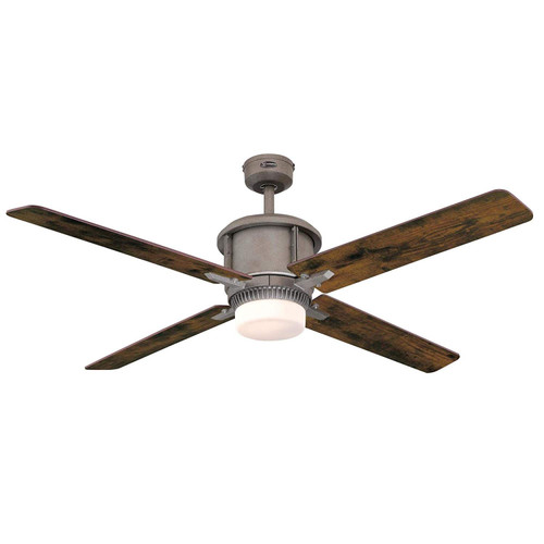 Westinghouse Lighting 7220200 Cliff 56-Inch Ceiling Fan, Industrial Steel Indoor, Dimmable LED Light Kit with Opal Frosted Glass, and Remote Control Included