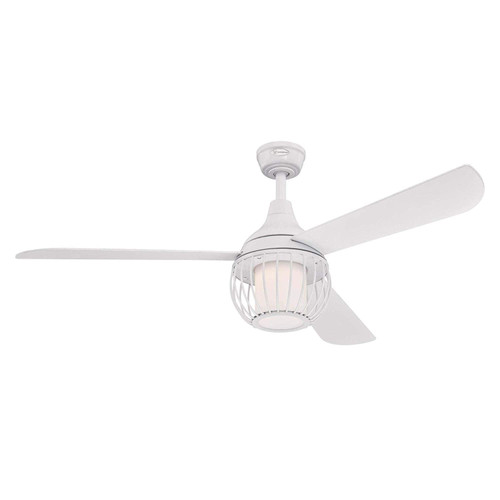 Westinghouse Lighting 7220700 Graham 52-Inch White Indoor Ceiling Fan, Dimmable LED Light Kit with Opal Frosted Glass, Remote Control Included