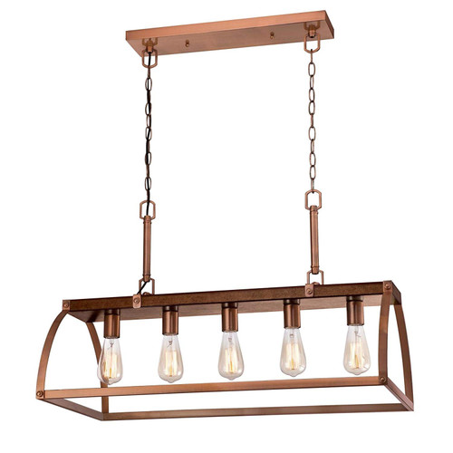 Westinghouse Lighting 6351600 Chandelier, Barnwood & Copper