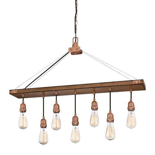 Westinghouse Lighting 6351400 Chandelier, Barnwood & Copper