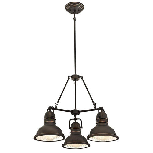 Westinghouse Lighting 6333700 Boswell Three-Light Indoor Chandelier, Oil Rubbed Bronze