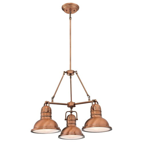 Westinghouse Lighting 6333800 Boswell Three-Light Indoor Chandelier, Washed Copper Finish