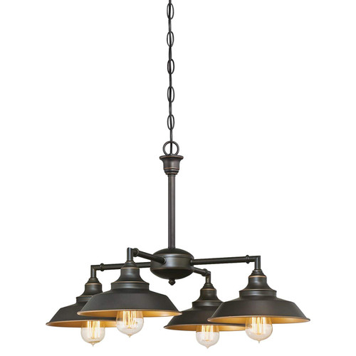 Westinghouse Lighting 6345000 Iron Hill Four-Light, Oil Rubbed Bronze Finish