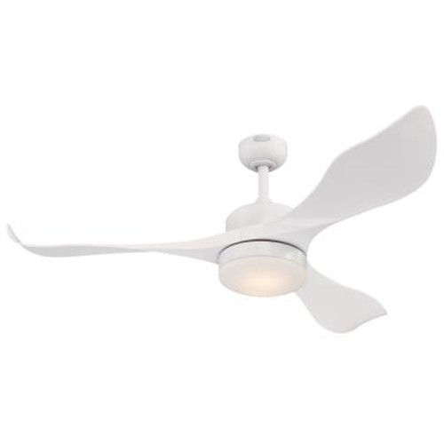 Westinghouse 7225300 Pierre 52-Inch Indoor Ceiling Fan with Dimmable LED Light FixtureWhite Finish with White ABS Blades, Opal Frosted Glass, Remote Control Included