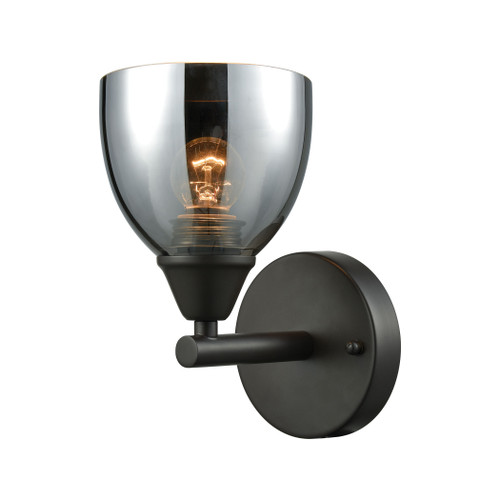 ELK Lighting 10270/1 Reflections 1-Light Vanity Lamp in Oil Rubbed Bronze with Chrome-plated Glass