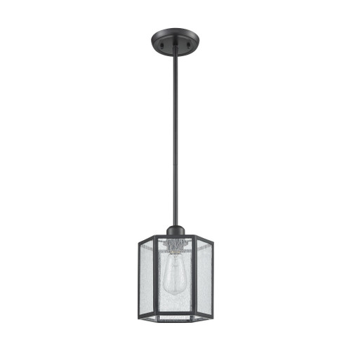 ELK Lighting 10353/1 Spencer 1-Light Mini Pendant in Oil Rubbed Bronze with Translucent Organza PVC Shade