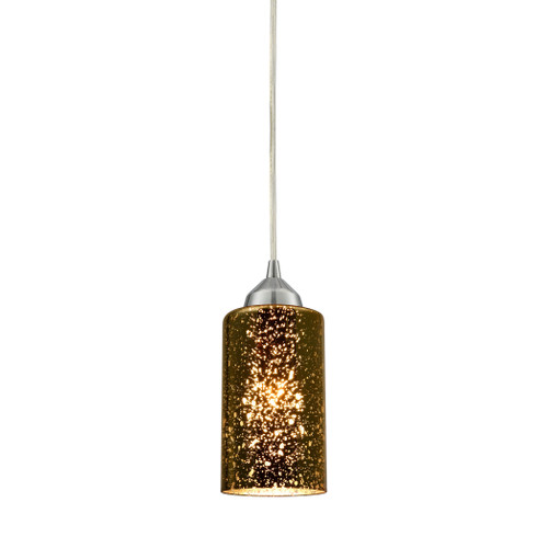 ELK Lighting 10505/1 Illusions 1-Light Mini Pendant in Chrome with Sage Mercury Mirror Glass