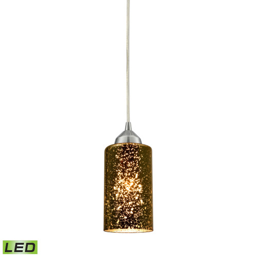 ELK Lighting 10505/1-LED Illusions 1-Light Mini Pendant in Chrome with Sage Mercury Mirror Glass - Includes LED Bulb