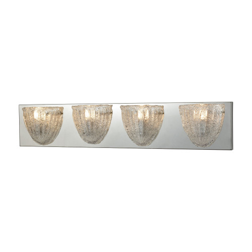 ELK Lighting 10727/4 Verannis 4-Light Vanity Sconce in Polished Chrome with Hand-formed Clear Sugar Glass
