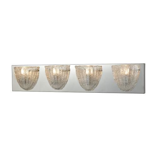 ELK Lighting 10727/4 Verannis 4-Light Vanity Sconce in Polished Chrome with Hand-formed Clear Sugar Glass