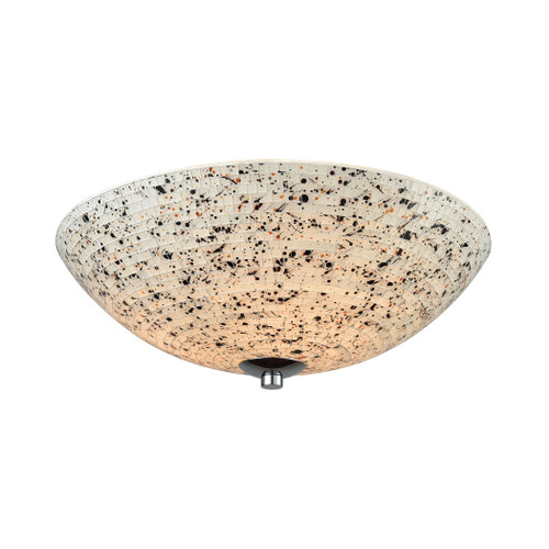 ELK Lighting 10740/3 Spatter 3-Light Flush Mount in Polished Chrome with Spatter Mosaic Glass