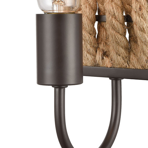 ELK Lighting 10752/1 Weaverton 1-Light Vanity Light in Oil Rubbed Bronze