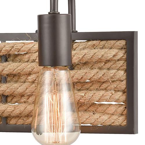 ELK Lighting 10753/3 Weaverton 3-Light Vanity Light in Oil Rubbed Bronze