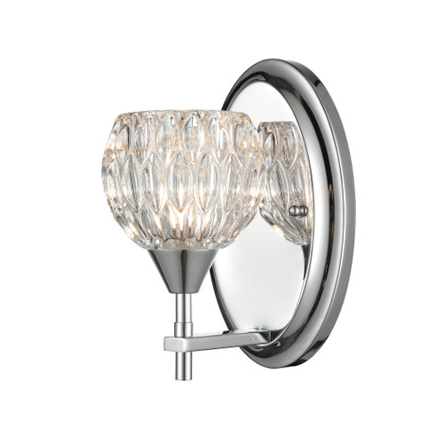 ELK Lighting 10820/1 Kersey 1-Light Vanity Light in Polished Chrome with Clear Crystal