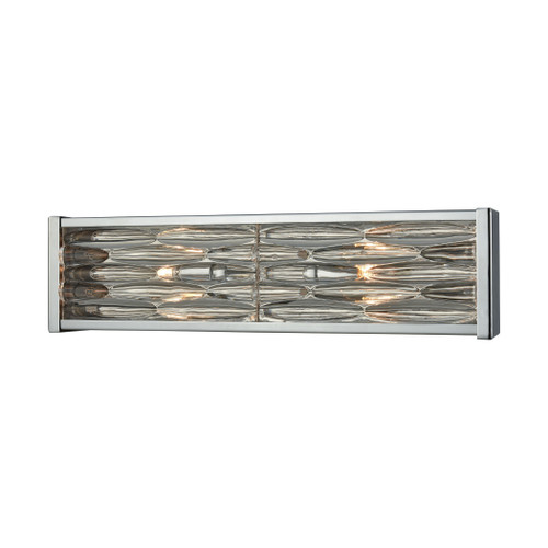 ELK Lighting 11101/2 Riverflow 2-Light Vanity Sconce in Polished Chrome with Stacked River Stone Glass