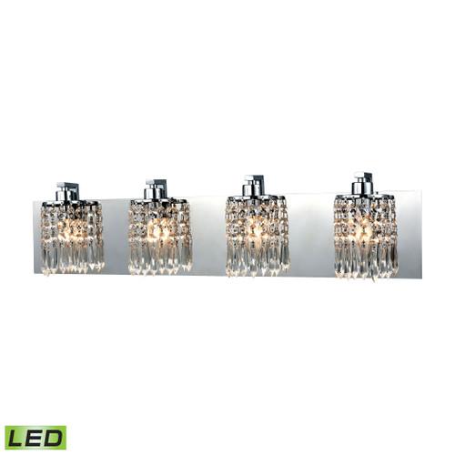 ELK Lighting 11238/4-LED Optix 4-Light Vanity Sconce in Polished Chrome with Clear Crystal - Includes LED Bulbs