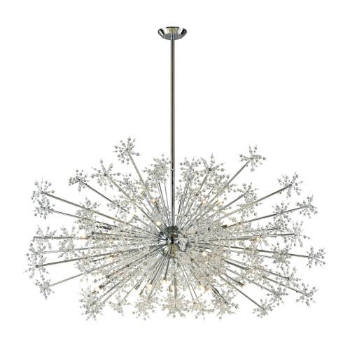 ELK Lighting 11897/30 Snowburst 30-Light Chandelier in Polished Chrome with Crystal