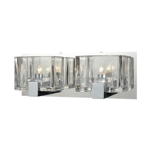 ELK Lighting 11961/2 Ridgecrest 2-Light Vanity Sconce in Polished Chrome with Clear Cast Glass