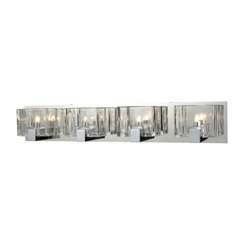 ELK Lighting 11963/4 Ridgecrest 4-Light Vanity Sconce in Polished Chrome with Clear Cast Glass